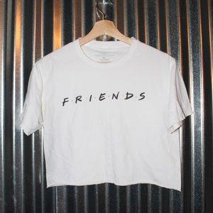 Tops - FRIENDS white crop top